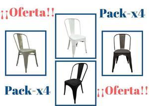 Silla De Metal Replica Tolix (packx4)