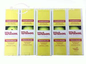 Paquete De 5 Botes De Pelotas De Tenis Wilson Sin Presion