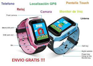Reloj Celular Telefono Localizador Gps Cámara Para Niños
