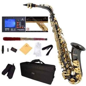 Saxofón Alto Lacado En Negro Mendini Envió Gratis