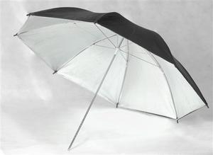 Sombrilla Para Flash Estudio De Fotografía Negra Plata 83cm