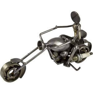 Artesanías De Metal - Motociclista Chopper