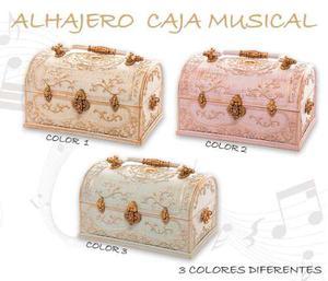 Joyero Alhajero Caja Musical Cofre Barroco Vintage