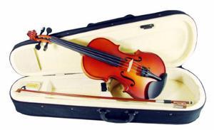 Violin De 1/2 Con Estuche, Brea, Arco, Hecho De Abeto, Maple
