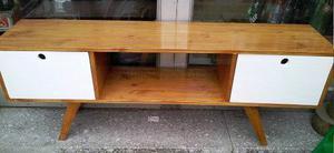 Mueble Para Tv Retro Vintage 150 Cm. Caoba Claro