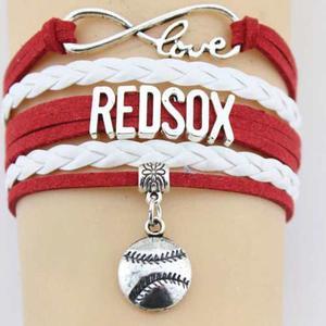 Pulsera Beisbol Mlb Boston Red Sox Souvenir Envío Gratis