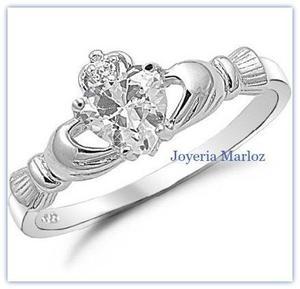 Anillos Claddagh 14kt.60ct Diamantes Forever Brilliant
