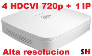 Dvr 4 Canales Hdcvi 720p + 1 Ip Grabacion Dahua Pentahibrido
