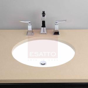 Esatto ® - Ovalín Lavabo De Ceramica Blanca Submontar