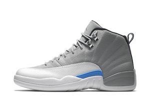 Tenis Retro Nike Jordan 12 Gris Blanco Rojo 26 Us 28