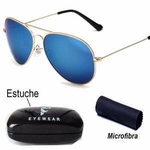Lentes De Sol Aviador Polarizados Gota Grande Azul Gafas