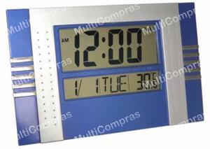 Reloj De Pared Digital Con Alarma Fecha Día Hora Reloj Mesa