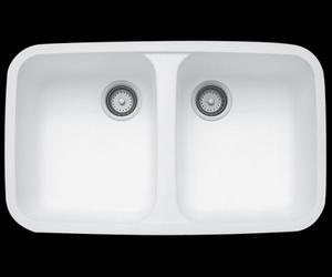 Tarja Doble De Submontar Modelo 850 Blanco Marca Corian
