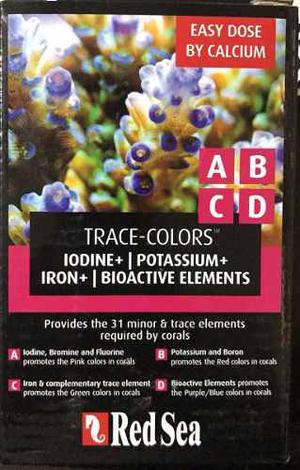Red Sea Coral Colors A B C D 4x100 Ml Trace