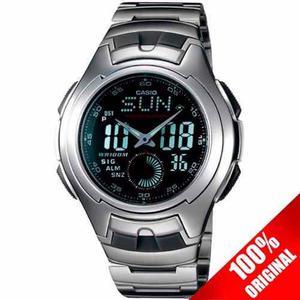 Reloj Casio Aq160 Acero Inoxidable - 29 Zonas Horarias