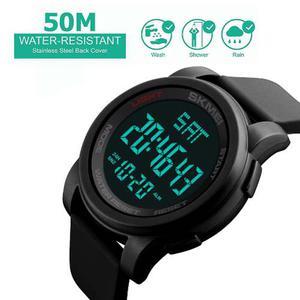 Reloj Negro Digital Hombre Joven Deportivo Marcar Grande
