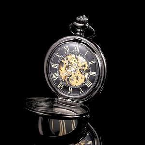 Reloj Relojes De Bolsillo De Cuerda Skeleton Retro Vintage
