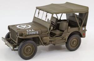 Jeep Willy's U.s. Army Con Techo Escala 1:18 Welly