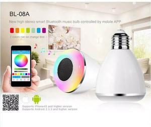 Bocina Foco Lampara Led Bluetooth Rgb Smartphone Celular