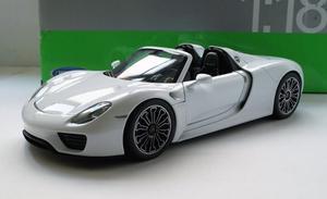 Porsche 918 Spyder Blanco Sin Toldo Escala 1:18 Welly