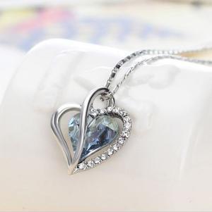 14 Febrero Collar Corazon Swarovski Con Certificado Amor