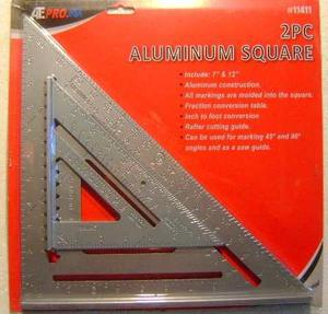 2 Escuadras De Aluminio12 Y 7 Pulg. Para Carpintería