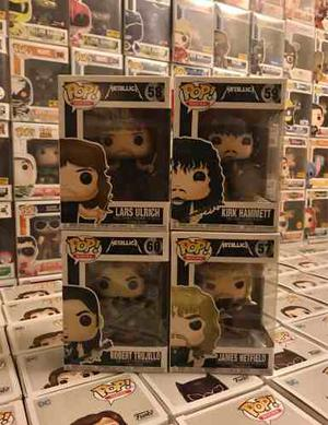 Funko Pop Metallica Set De 4 ! Kirk Robert James Lars