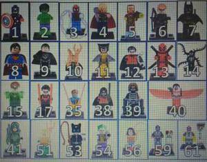 Muñeco Avengers, Sw, Súper Héroes Compatible Con Lego