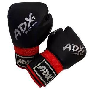 Guantes De Box Adx Premium 100% Piel Negro 14 Y 16 Oz