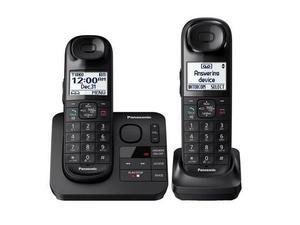 Telefonos Inalambricos Doble Panasonic Negro Contestadora Id