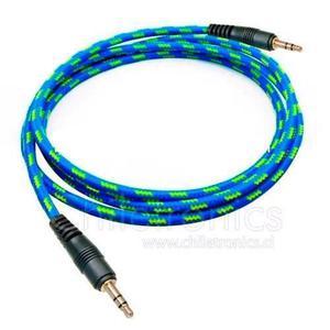 Cable Auxiliar 3.5 Reforzados Celular Mp3 Tablet Colores