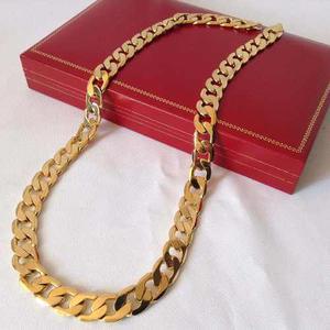 Cadena De Cuello Oro Laminado 18k Mod. Barbada
