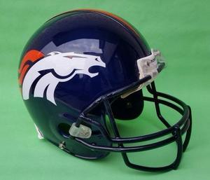 Casco Pintado Broncos De Denver (casco Restaurado)