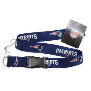 Nfl New England Patriots,portagafete Azul Envío Gratis