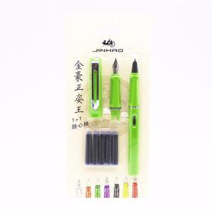 Pluma Fuente Jinhao 599 Green Set Punto Fino Y Extra Fino