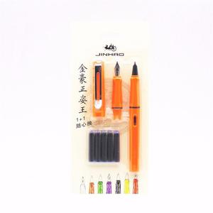 Pluma Fuente Jinhao 599 Orange Set Punto Fino Y Extra Fino