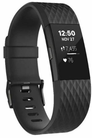 Reloj Deportivo Fitbit Charge 2 Negro Gunmetal Grande
