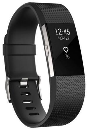 Reloj Deportivo Fitbit Charge 2 Negro Plateado Grande