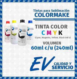 Tinta Para Sublimación Colormake Kit 6 Tintas Cmyk 60 Ml