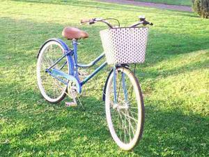 Bicicleta Vintage Clásica Retro Canasta Tejida Pedalé R26