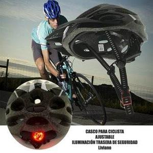 Casco De Bicicleta Con Luz Led Unitalla Casco Tipo Cross