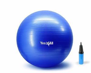 Pelota Yoga 65 Cm Azul Con Bomba *envio Gratis