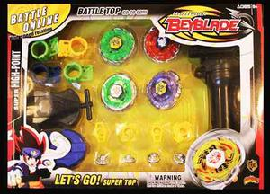 Set 4 Beyblade Con 2 Lanzadores + Envio Gratis