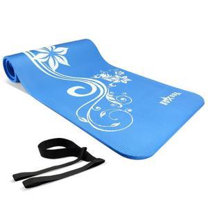 Tapete De Yoga Premium Extra Grueso De 12.7mm Flores Y Hojas