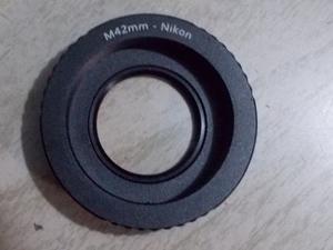Arillo Adaptador M42 P/ Lentes Nikon (Con Cristal)