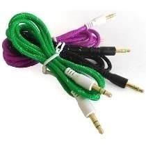 Cable Auxiliar Audio Plug 3.5 Agujeta Tela Colores!