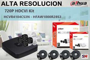 Kit Dahua 720p Hdcvi Alta Definicion 4 Camaras P2p Nube Cctv