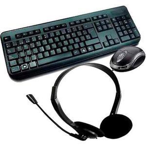 Kit Gamer Multimedia Teclado Usb + Mouse + Diadema Pc Wd5