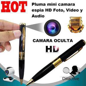 Pluma Mini Camara Espia Hd Foto, Video Y Audio Soporta 32gb