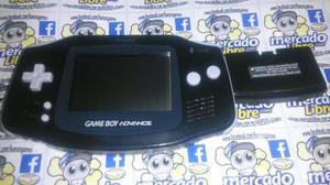 Gameboy Advance Negro Con Tapa De Pilas Y Mica Nueva